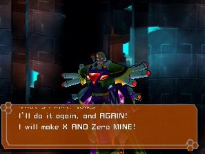 [Image of Sigma saying, 'I will make X and Zero mine!']
